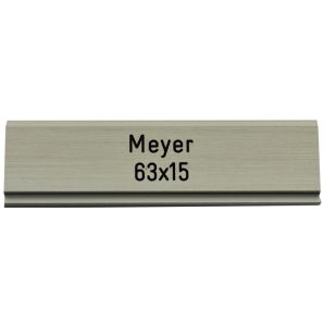 Letterbox Plate Meyer 63 x 15 mm