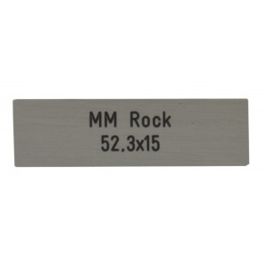 Letterbox Plate MarcMetall Rock 52.3 x 15 mm