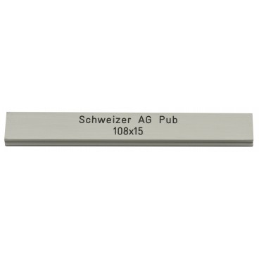 Letterbox Plate Schweizer AG 108 x 15 mm