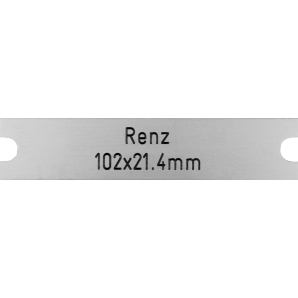 Letterbox Plate Renz -...