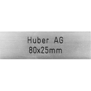 Letterbox Plate Huber AG -...