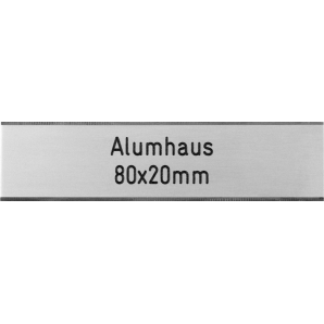 Letterbox Plate Alumhaus -...