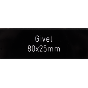 Letterbox Plate Givel black 80 x 25 mm