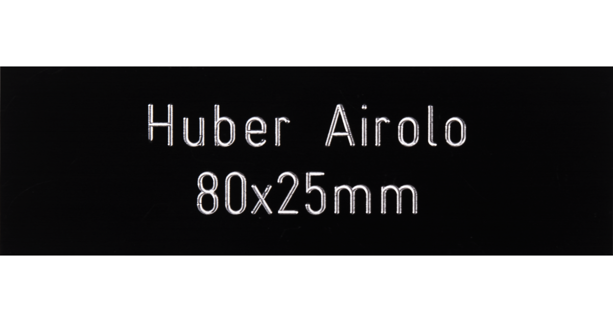 Letterbox Plate Huber Airolo black 80 x 25 mm